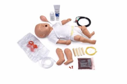 Fantom niemowlęcia PALS z symulatorem EKG