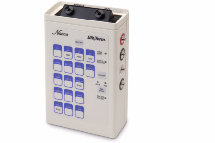 Symulator EKG z adapterami