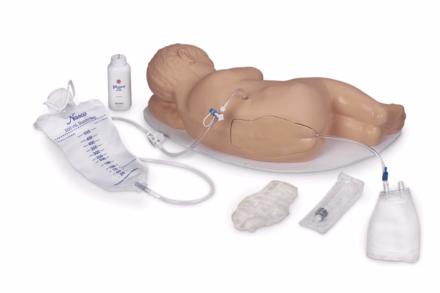 Trenażer do wykonywania iniekcji lędźwiowej oraz znieczulenia ogonowego u niemowlęcia